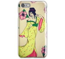 Geisha marker drawing iPhone Case/Skin