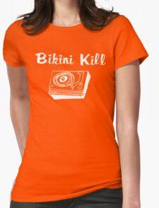 Bikini Kill (on black) Womens Fitted T-Shirt