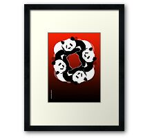 PANDA PLAY Framed Print