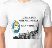 Extraordinary Jubilee of Mercy with logo, 2015 - 2016 (A) Unisex T-Shirt