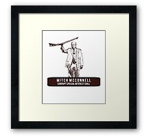 Mitch McConnell: Corrupt Special Interest Shill Framed Print