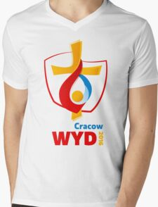 World Youth Day 2016 in Cracow logo Mens V-Neck T-Shirt