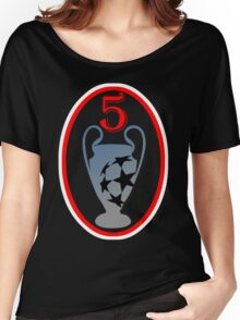 Liverpool football club 5 Champions League Women's Relaxed Fit T-Shirt