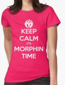 Keep Calm It's Morphin Time (Pink) Womens Fitted T-Shirt