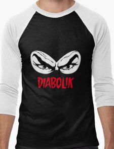 Diabolik eyes comic hero, with name Men's Baseball ¾ T-Shirt