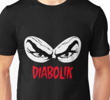 Diabolik eyes comic hero, with name Unisex T-Shirt