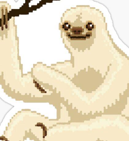 8-bit sloth painting stlye Sticker