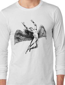 ICARUS THROWS THE HORNS - black Long Sleeve T-Shirt