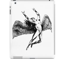 ICARUS THROWS THE HORNS - black iPad Case/Skin
