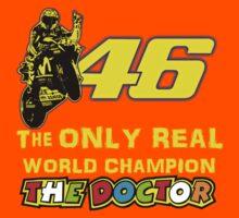 VR46, Valentino Rossi the Legend, MotoGp World Champion Kids Tee