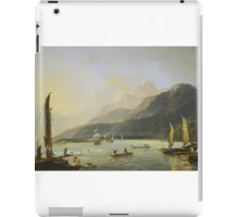 Resolution and Adventure with fishing craft in Matavai Bay, Tahiti, painted by William Hodges  iPad Case/Skin