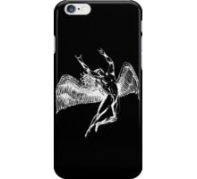 ICARUS THROWS THE HORNS - white iPhone Case/Skin