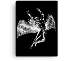 ICARUS THROWS THE HORNS - white Canvas Print