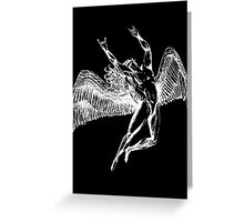 ICARUS THROWS THE HORNS - white Greeting Card