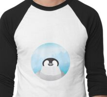 Simplistic Penguin Men's Baseball ¾ T-Shirt