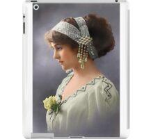 Colorized Vintage Young Beauty III iPad Case/Skin