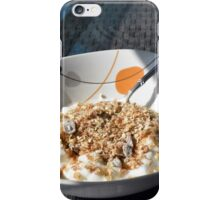 Bowl of cereals and yogurt. iPhone Case/Skin
