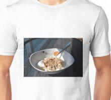 Bowl of cereals and yogurt. Unisex T-Shirt