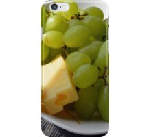 Yellow grapes and cheese. iPhone Case/Skin