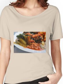 Lunch full plate with beans, vegetables, pasta. Women's Relaxed Fit T-Shirt