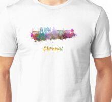 Chennai skyline in watercolor Unisex T-Shirt