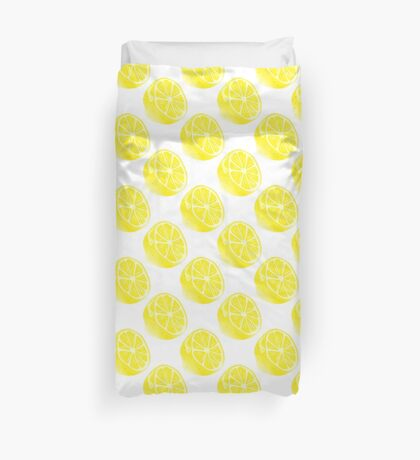 Lemon Citrus Fruit  Duvet Cover