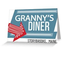 Granny's Diner - Once Upon a Time Greeting Card