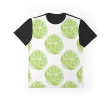 Fresh Sliced Lime Wedges Citrus Fruit Graphic T-Shirt