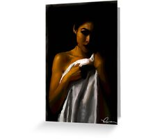 Girl in a towel Greeting Card