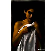 Girl in a towel Photographic Print