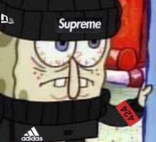 SpongeBob supreme hypebeast Sticker