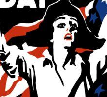 Wake Up America Day -- WW1 Sticker