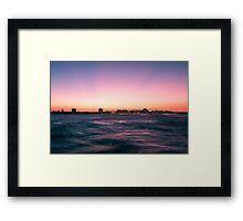 Mooloolaba beach at dusk Framed Print