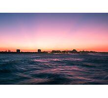 Mooloolaba beach at dusk Photographic Print