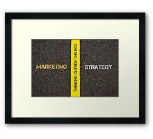 Antonym concept of MARKETING versus STRATEGY Framed Print