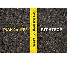 Antonym concept of MARKETING versus STRATEGY Photographic Print