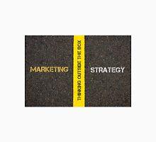 Antonym concept of MARKETING versus STRATEGY Unisex T-Shirt