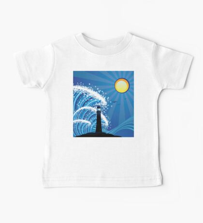 Lighthouse in the Sea Baby Tee