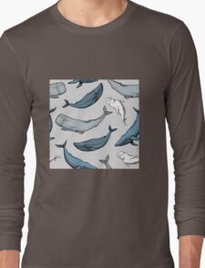 Whales are everywhere Long Sleeve T-Shirt