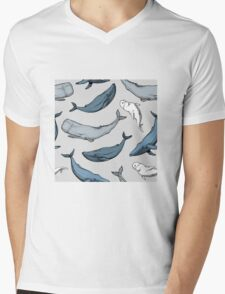 Whales are everywhere Mens V-Neck T-Shirt