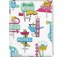 Motel signs iPad Case/Skin