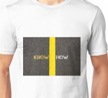 Road marking yellow line, KNOWHOW concept Unisex T-Shirt
