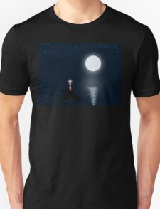 Lighthouse and Full Moon Unisex T-Shirt