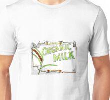 Wheat Organic Milk Label Retro Unisex T-Shirt