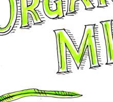 Wheat Organic Milk Label Retro Sticker