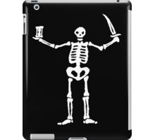 Black Sails Pirate Flag White Skeleton iPad Case/Skin