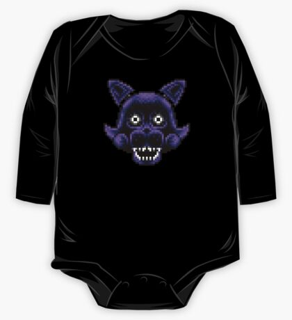 Five Nights at Candy's - Pixel art - Shadow Candy One Piece - Long Sleeve