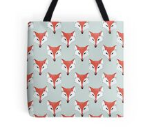 Fox Pattern on Sage  Tote Bag
