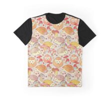 Woodland Hedgehogs - a pattern in soft neutrals  Graphic T-Shirt