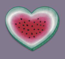 Summer Love - Watermelon Heart Kids Tee